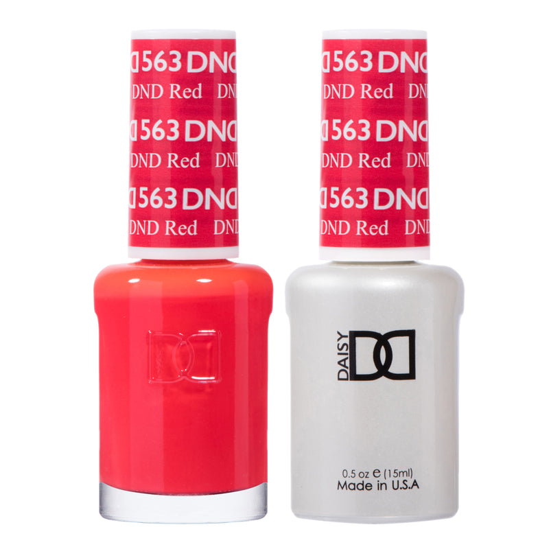 DND563 - DND SOAK OFF GEL 0.5OZ - DND RED
