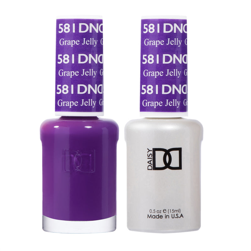 DND581 - DND SOAK OFF GEL 0.5OZ - GRAPE JELLY