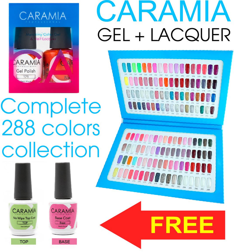CARAMIA FULL LINE 288 COLOR / FREE TOP & BASE
