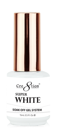 CRE8TION SOAK OFF GEL - SUPER WHITE 0.5oz