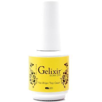 GELIXIR TOP COAT NO WIPE 0.5OZ