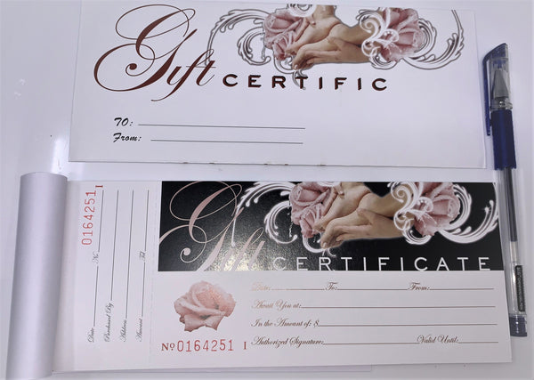 GIFT CERTIFICATE 50pcs
