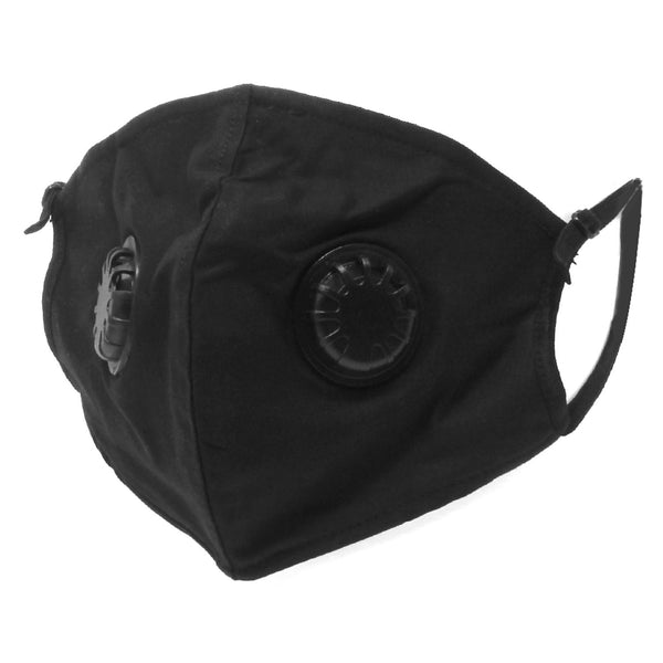 FACE MASK 2 LAYERS WITH AIR FILTER ANTI-FOG AND DUSTPROOF (BLACK)