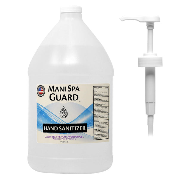 MS06 - FDA-MANI SPA HAND SANITIZER 1 GALLON CALMING FRENCH LAVENDER GEL