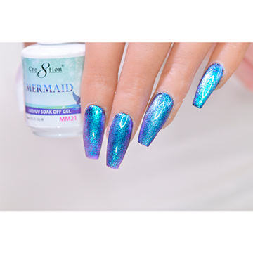 MM21 - CRE8TION MERMAID LED/UV SOAK OFF GEL
