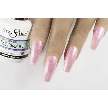 MM35 - CRE8TION MERMAID LED/UV SOAK OFF GEL