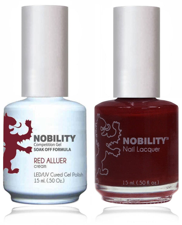 NBCS003 - NOBILITY GEL POLISH & NAIL LACQUER - RED ALLURE 0.5oz