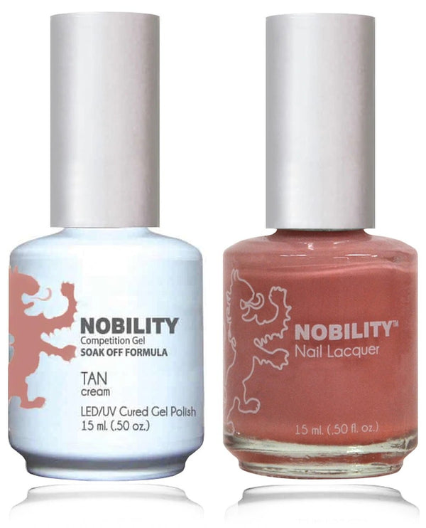 NBCS012 - NOBILITY GEL POLISH & NAIL LACQUER - TAN ROSE 0.5oz