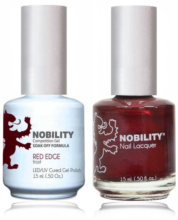 NBCS014 - NOBILITY GEL POLISH & NAIL LACQUER - RED EDGE 0.5oz