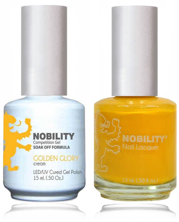 NBCS019 - NOBILITY GEL POLISH & NAIL LACQUER - GOLDEN GLORY 0.5oz