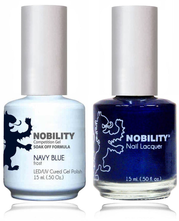 NBCS020 - NOBILITY GEL POLISH & NAIL LACQUER - NAVY BLUE 0.5oz