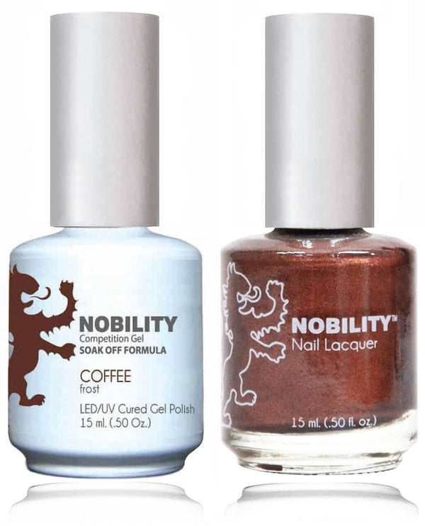 NBCS023 - NOBILITY GEL POLISH & NAIL LACQUER - COFFEE 0.5oz