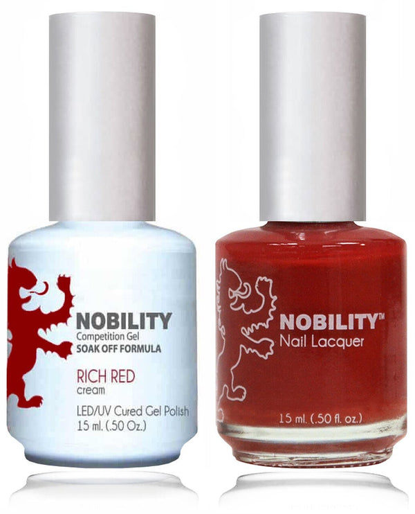NBCS031 - NOBILITY GEL POLISH & NAIL LACQUER - RICH RED 0.5oz