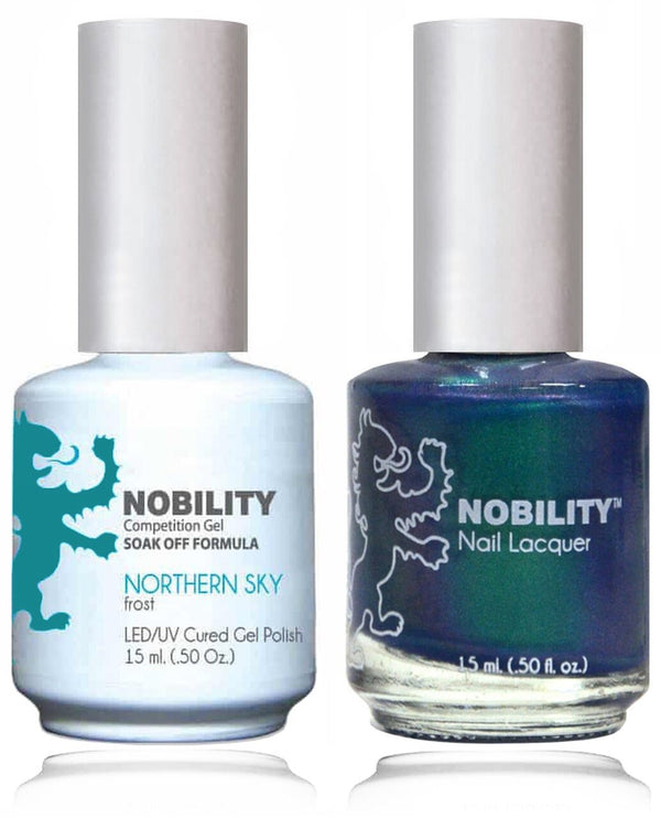 NBCS050 - NOBILITY GEL POLISH & NAIL LACQUER - NORTHERN SKY 0.5oz