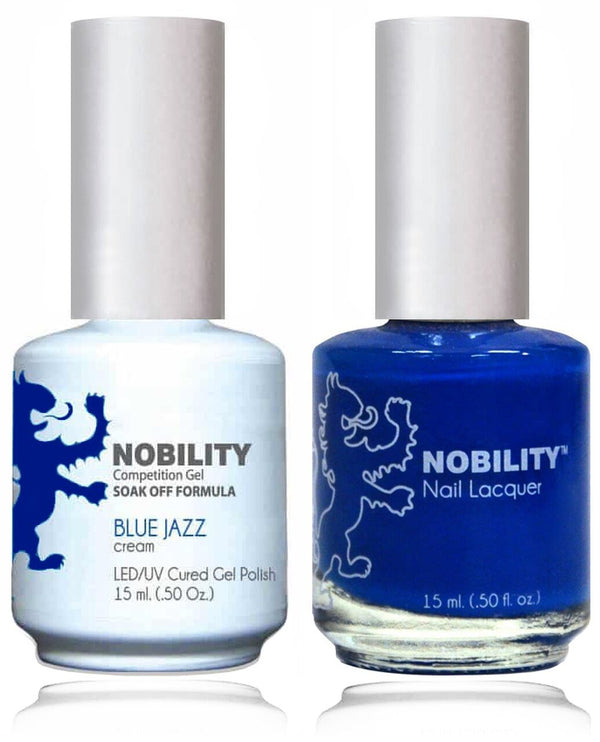 NBCS058 - NOBILITY GEL POLISH & NAIL LACQUER - BLUE JAZZ 0.5oz