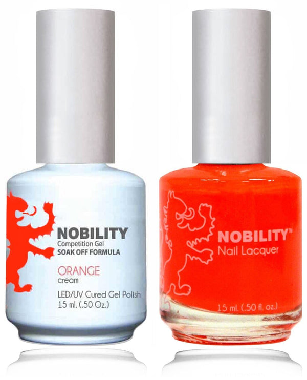 NBCS060 - NOBILITY GEL POLISH & NAIL LACQUER - ORANGE 0.5oz