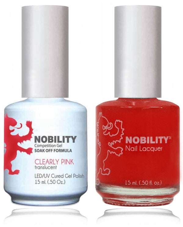 NBCS066 - NOBILITY GEL POLISH & NAIL LACQUER - CLEARLY PINK 0.5oz
