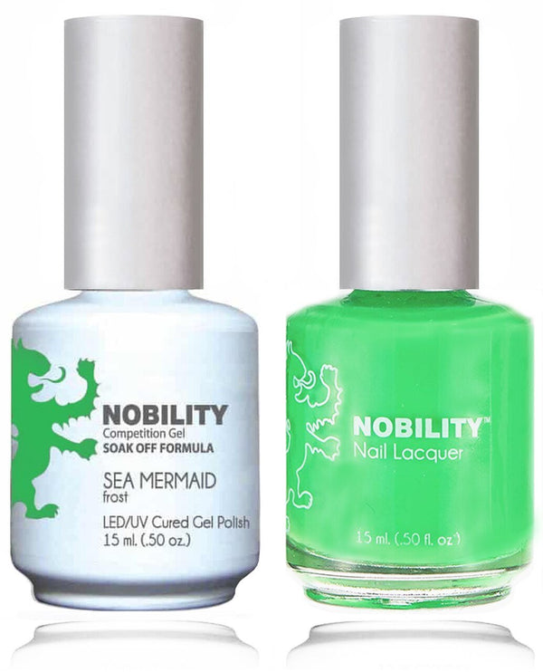 NBCS087 - NOBILITY GEL POLISH & NAIL LACQUER - SEA MERMAID 0.5oz