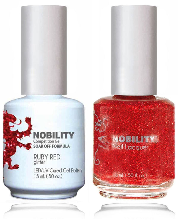 NBCS107 - NOBILITY GEL POLISH & NAIL LACQUER - RUBY RED 0.5oz