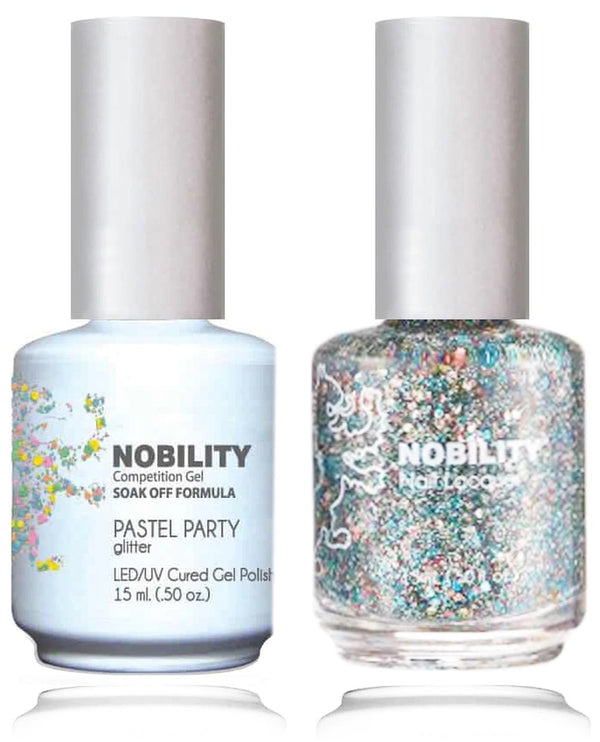 NBCS110 - NOBILITY GEL POLISH & NAIL LACQUER - PASTEL PARTY 0.5oz