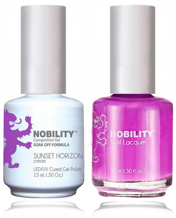 NBCS120 - NOBILITY GEL POLISH & NAIL LACQUER - SUNSET HORIZON 0.5oz