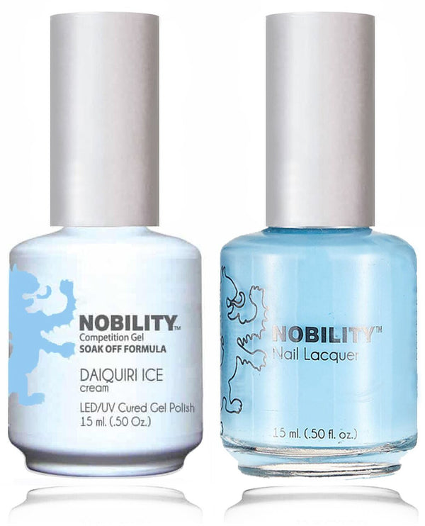 NBCS123 - NOBILITY GEL POLISH & NAIL LACQUER - DAIQUIRI ICE 0.5oz