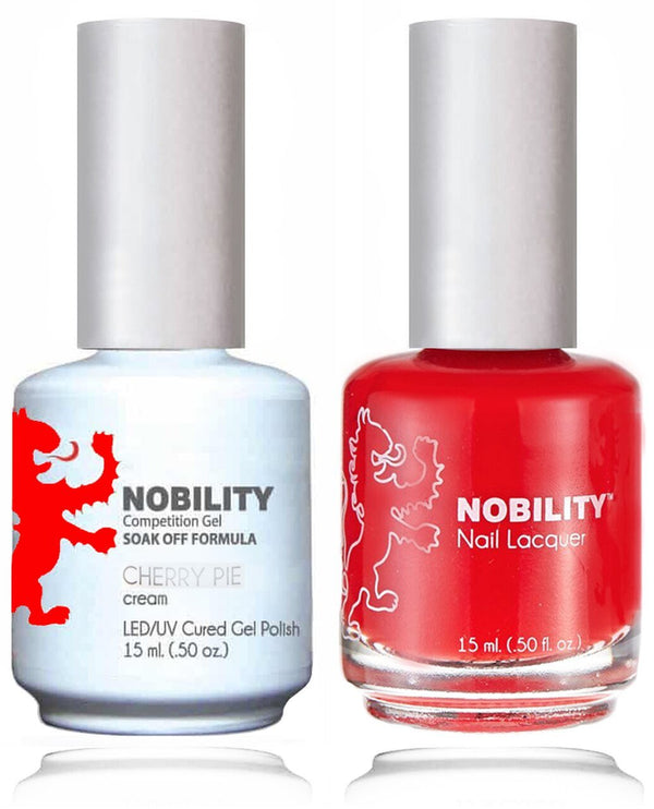 NBCS156 - NOBILITY GEL POLISH & NAIL LACQUER - CHERRY PIE 0.5oz