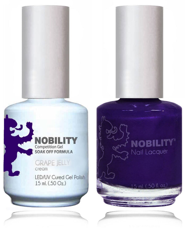 NBCS162 - NOBILITY GEL POLISH & NAIL LACQUER - GRAPE JELLY 0.5oz