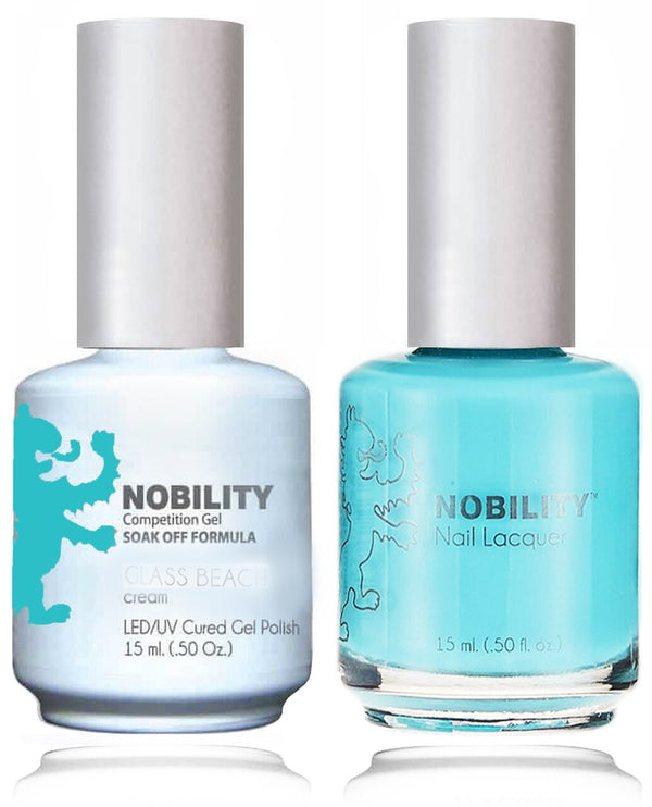 NBCS165 - NOBILITY GEL POLISH & NAIL LACQUER - GLASS BEACH 0.5oz