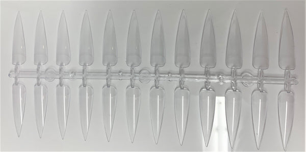 POINTY TIP CLEAR - 24tips (PACK OF 10)