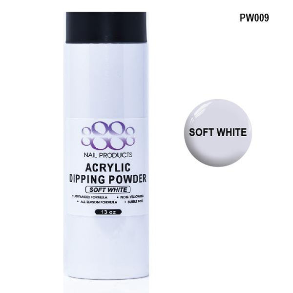 8888 OMBRE POWDER DIP - ACRYLIC - SOFT WHITE