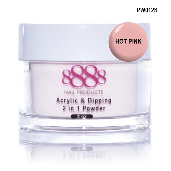8888 OMBRE POWDER DIP - ACRYLIC - HOT PINK
