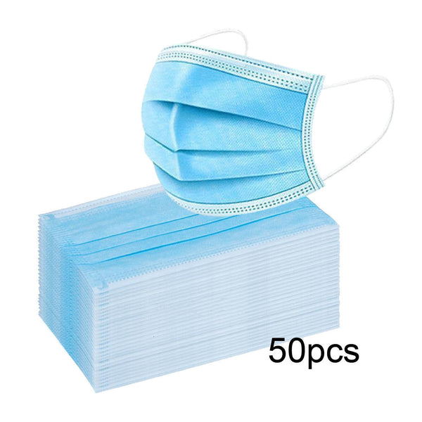 1595 - DISPOSABLE FACE MASK BLUE Box of 50pcs / 4 LAYER (NO RETURN, NO EXCHANGE DISINFECTING PRODUCTS)