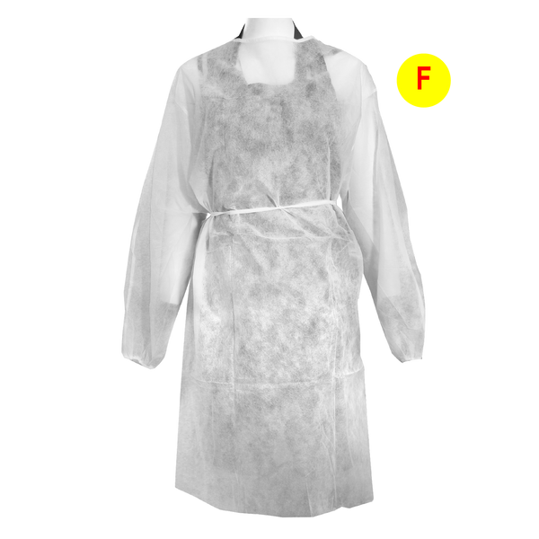 1686 - DISPOSABLE DISINFECTING GOWN 30gr -WHITE