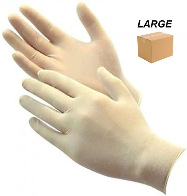 LATEX GLOVE POWDER FREE - LARGE - 1 CASE (10BOXES) - ONLINE