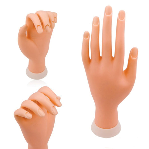 PH-D - PRACTICE HAND FLEXIBLE MOVABLE FAKE HAND MANICURE