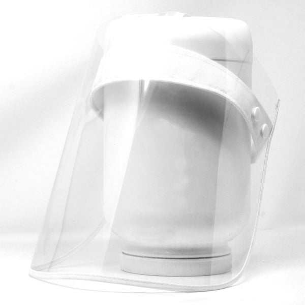 FULL FACE SHIELD FLIP UP, TRANSPARENT FACE SHIELD PROTECTION EYES FACE ANTI-FOG AND DUSTPROOF (WHITE) (NO RETURN, NO EXCHANGE DISINFECTING PRODUCTS)