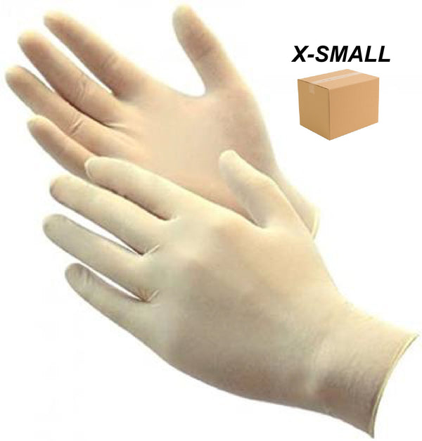 LATEX GLOVE POWDER FREE - X-SMALL - 1 CASE (10BOXES) - ONLINE