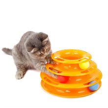 Load image into Gallery viewer, Tower of Ball Tracks Cat Toy