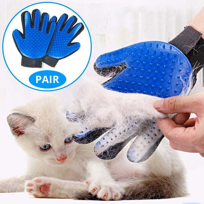 Cat Hair Grooming Glove (Pair) - AMillionPaws Cats & Dog Store