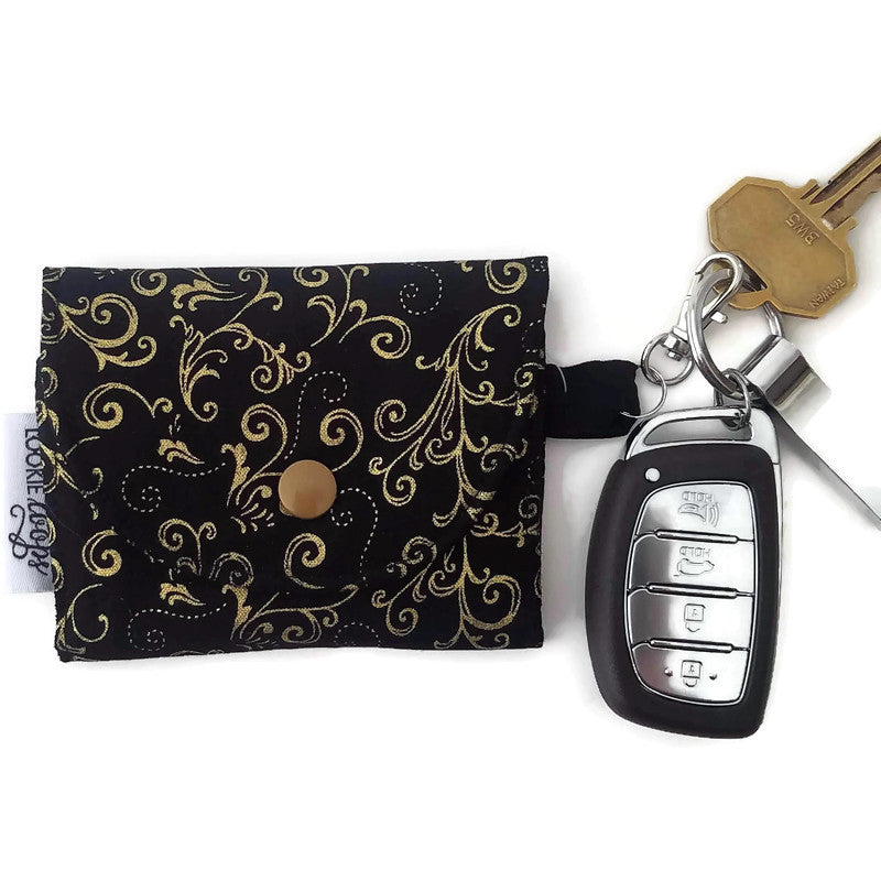 Gold Scroll Grab & Go Wallet