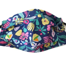 Load image into Gallery viewer, Hawaiian Flowers Face Mask with Optional Carrying Pouch
