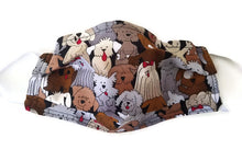 Load image into Gallery viewer, Happy Dogs Fabric Face Mask with (optional) Clean & Carry Pouch