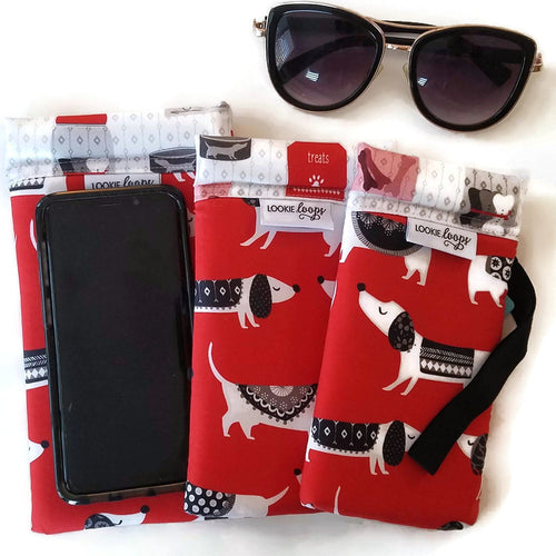 red dog cell phone or sunglass pouch