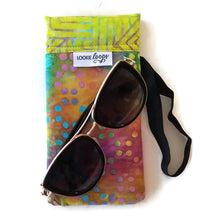 Load image into Gallery viewer, classic size tie-dye dots cell phone or sunglass pouch