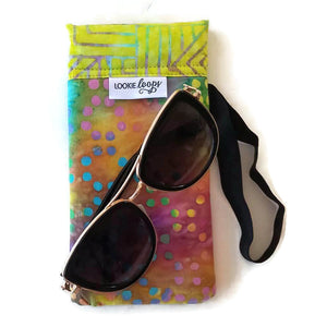 classic size tie-dye dots cell phone or sunglass pouch