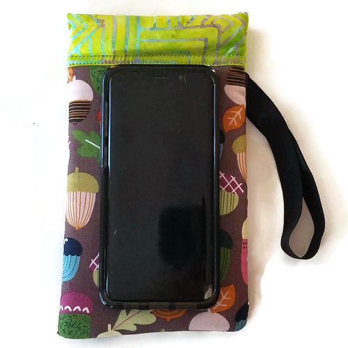 phone outside playful acorn cell phone or sunglass pouch
