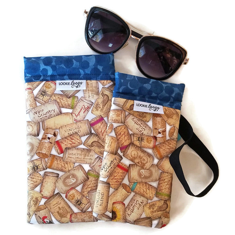 2 sizes uncorked cell phone or sunglass pouch