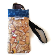 Load image into Gallery viewer, sunglasses inside classic uncorked cell phone or sunglass pouch