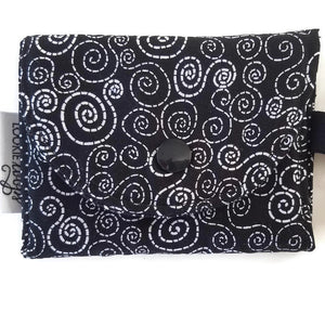 Black and White Swirl Wallet outside